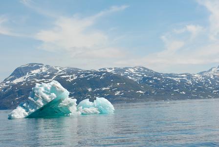Billede af isbjerg i Godthåbsfjorden juni 12