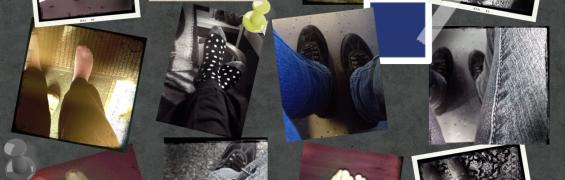 Collage af shots af fødder