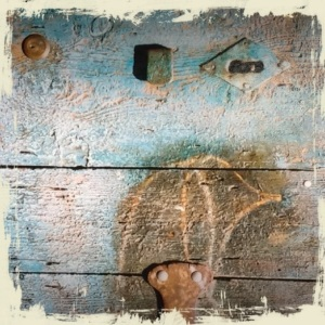 Billede af tænksom dør