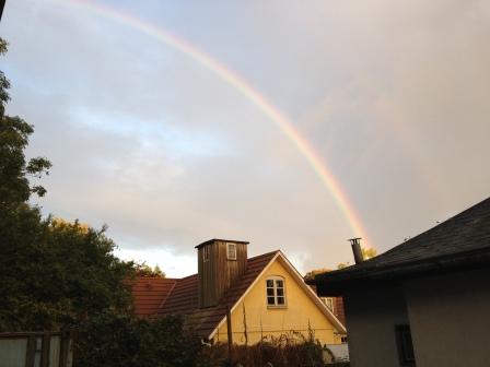 Foto af regnbue