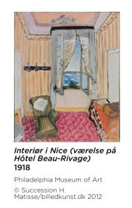 Screenshot Matisse app - interiør i Nice
